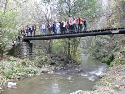 A Tordai-hasadék egyik hídján