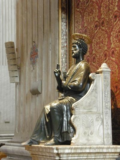 Szent Péter szobra a Székesegyházban