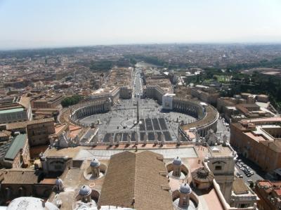 Kilátás a Bazilika kupolájából