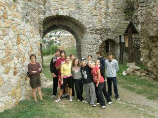 Csapatunk a nógrádi vár kapujában
