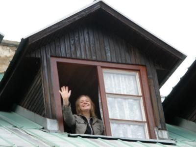 Grácia az ablakban...