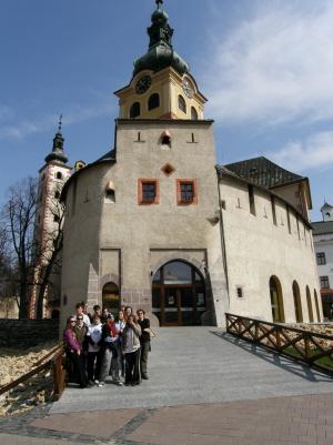 Kis csoportunk Besztercebányán