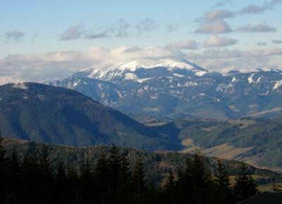 A Schneeberg csúcsa, a legkeletibb kétezres