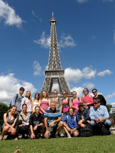 A túra méltó lezárása: hátunk mögött az Eiffel-torony!